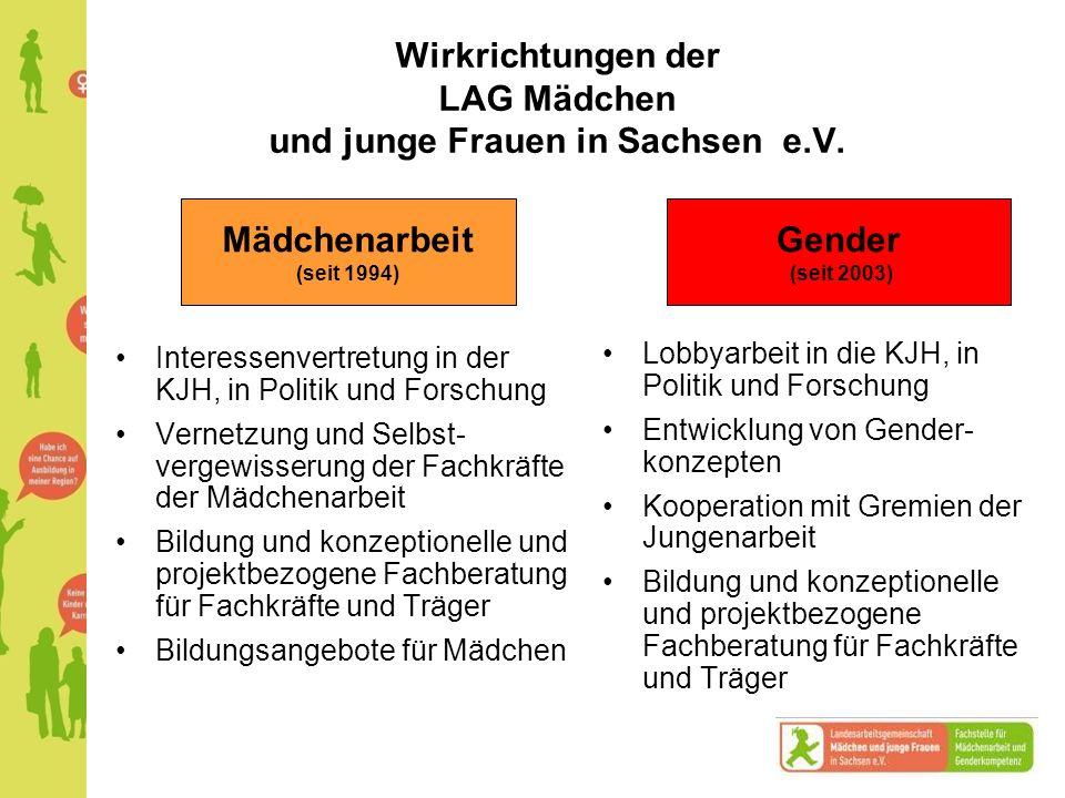 Wirkrichtungen der LAG Mädchen und junge Frauen in Sachsen e.V.