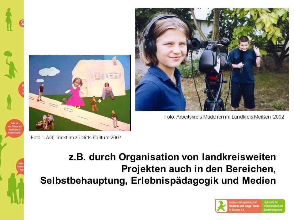 Foto: Arbeitskreis Mädchen im Landkreis Meißen 2002