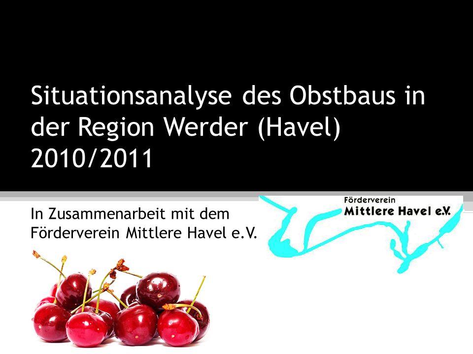 Situationsanalyse des Obstbaus in der Region Werder (Havel) 2010/2011