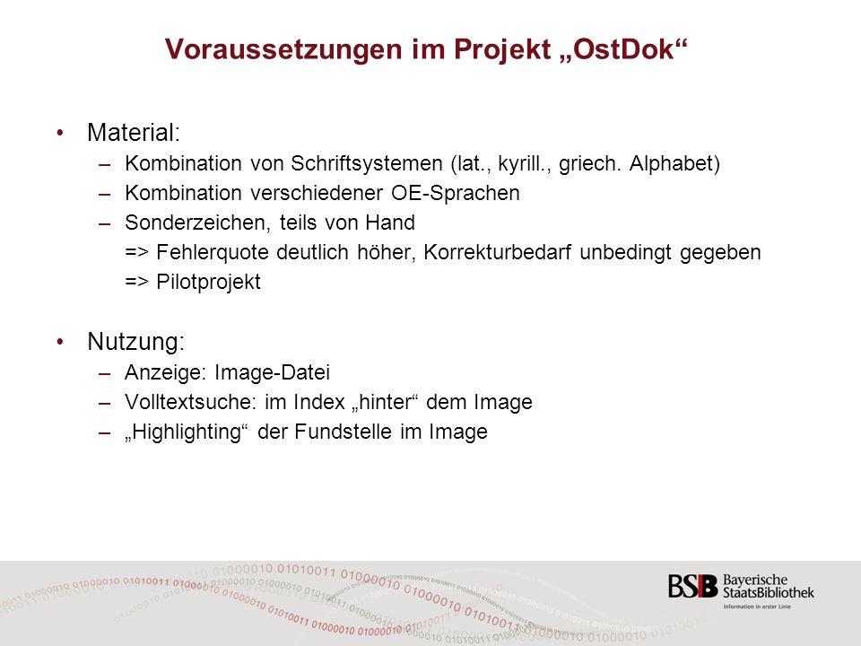 """Voraussetzungen im Projekt """"OstDok"""