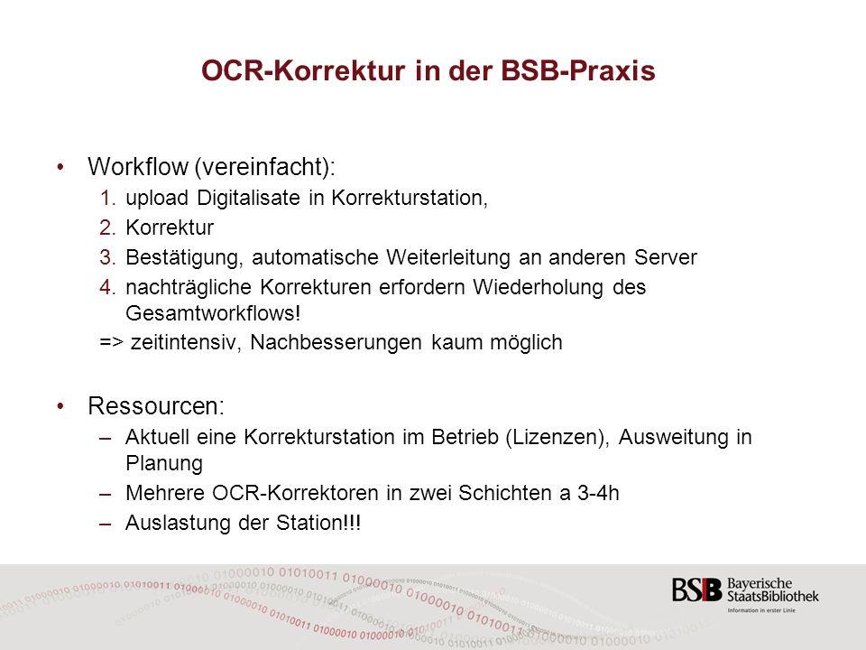 OCR-Korrektur in der BSB-Praxis
