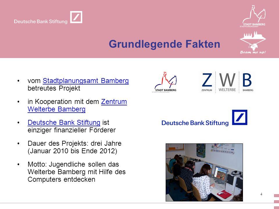 Grundlegende Fakten vom Stadtplanungsamt Bamberg betreutes Projekt
