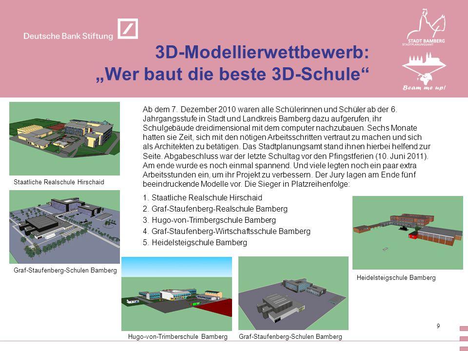 """3D-Modellierwettbewerb: """"Wer baut die beste 3D-Schule"""
