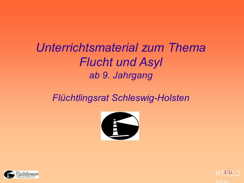 Unterrichtsmaterial zum Thema Flucht und Asyl ab 9