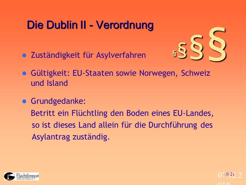 Die Dublin II - Verordnung