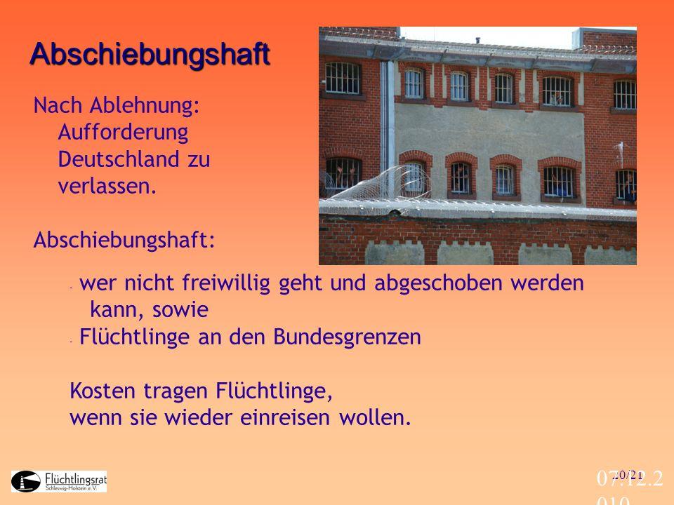 Abschiebungshaft Nach Ablehnung: Aufforderung Deutschland zu verlassen. Abschiebungshaft: