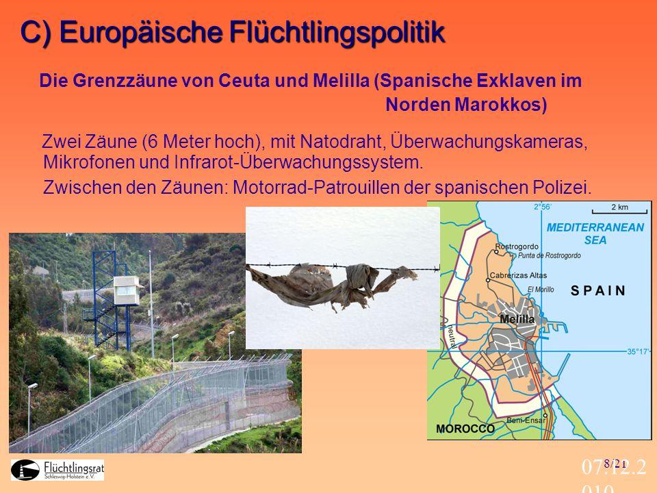 C) Europäische Flüchtlingspolitik