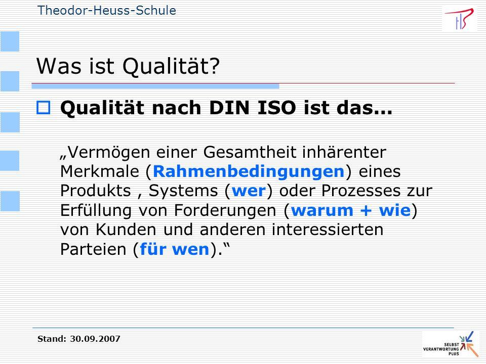 Was ist Qualität Qualität nach DIN ISO ist das...