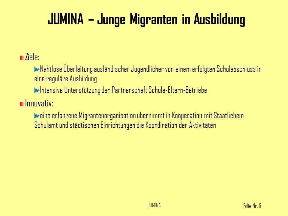 JUMINA – Junge Migranten in Ausbildung