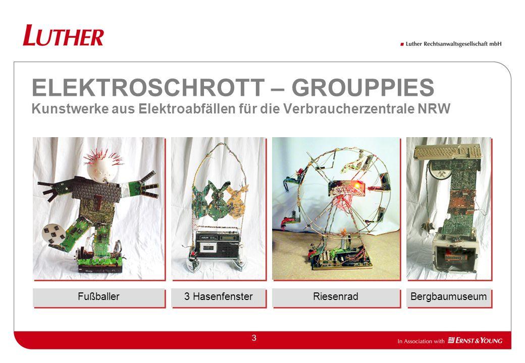 ELEKTROSCHROTT – GROUPPIES Kunstwerke aus Elektroabfällen für die Verbraucherzentrale NRW