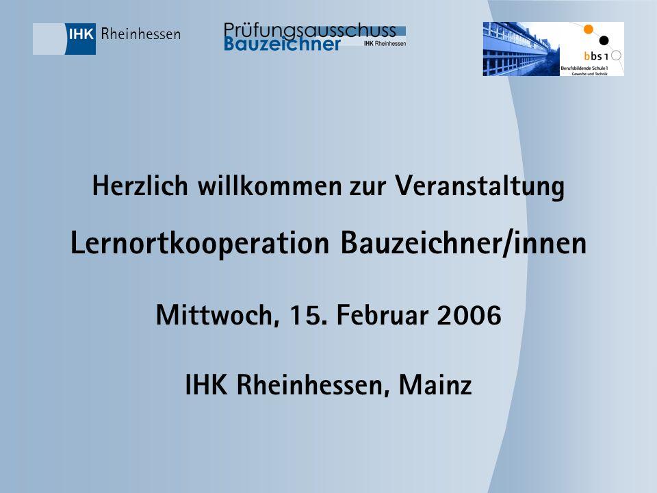 Informationsveranstaltung Lernortkooperation Bauzeichner