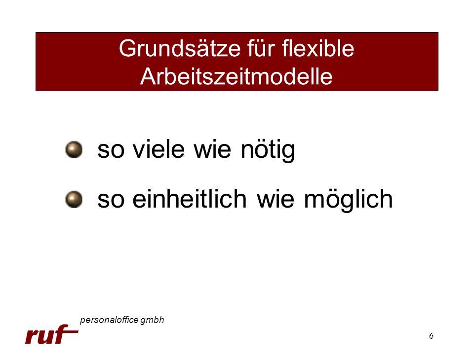 Grundsätze für flexible Arbeitszeitmodelle