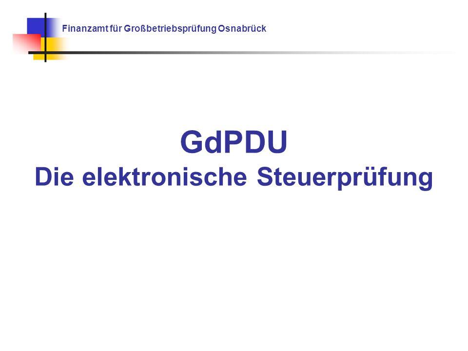GdPDU Die elektronische Steuerprüfung