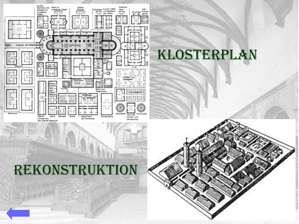 Klosterplan Rekonstruktion
