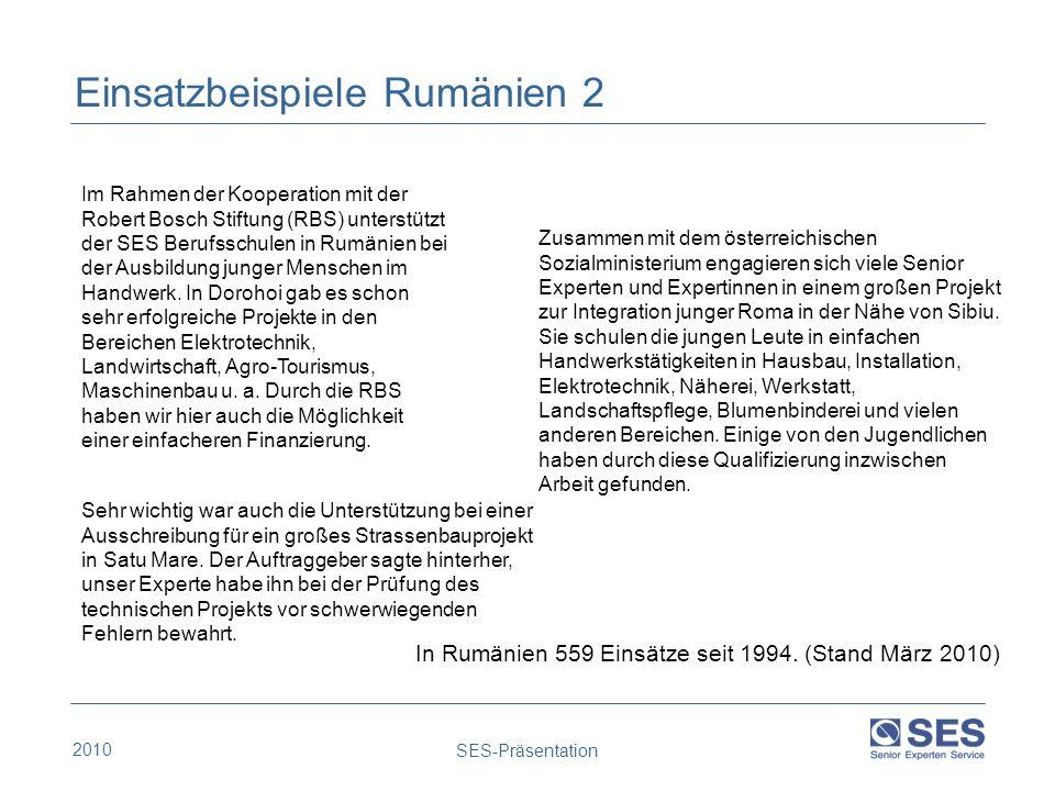 Einsatzbeispiele Rumänien 2