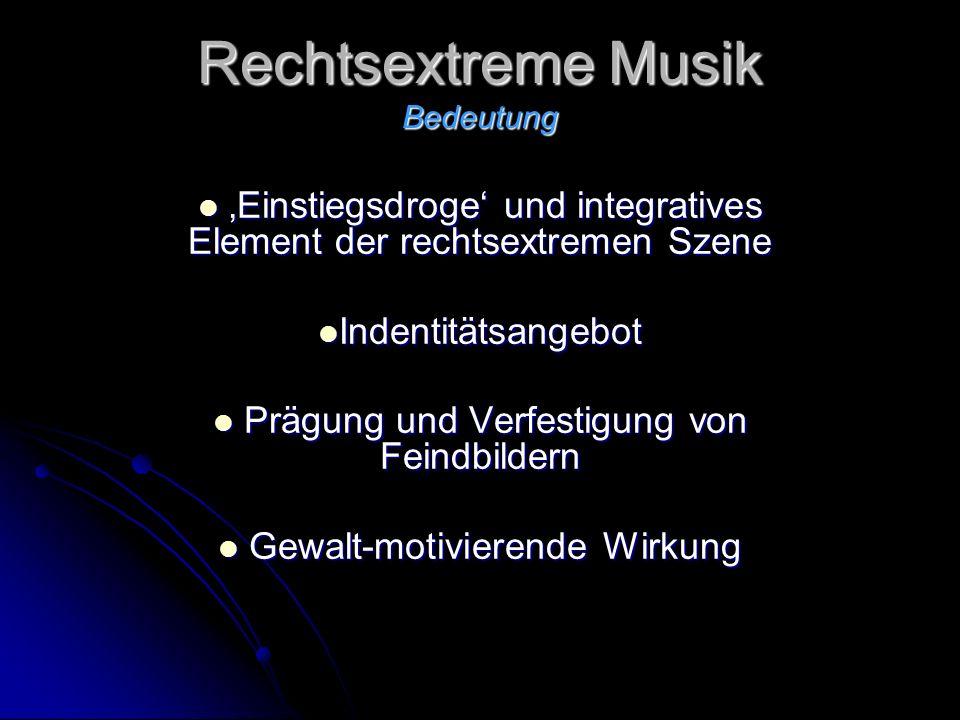 Rechtsextreme Musik Bedeutung