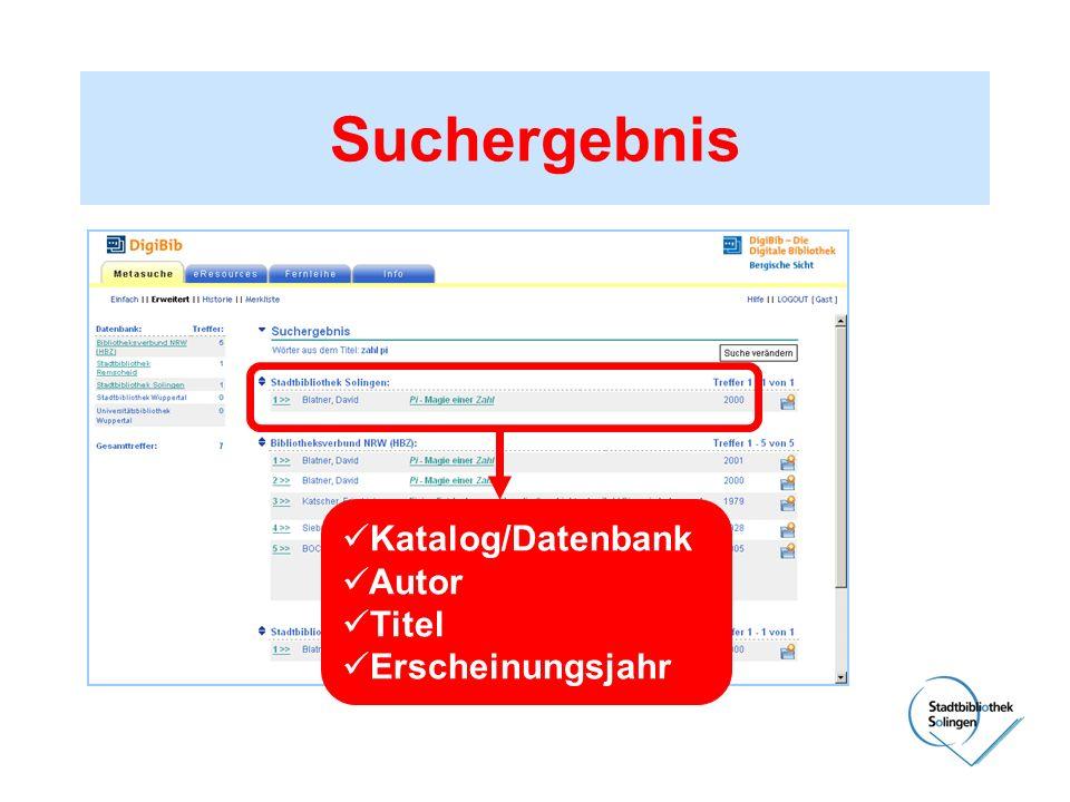 Suchergebnis Katalog/Datenbank Autor Titel Erscheinungsjahr