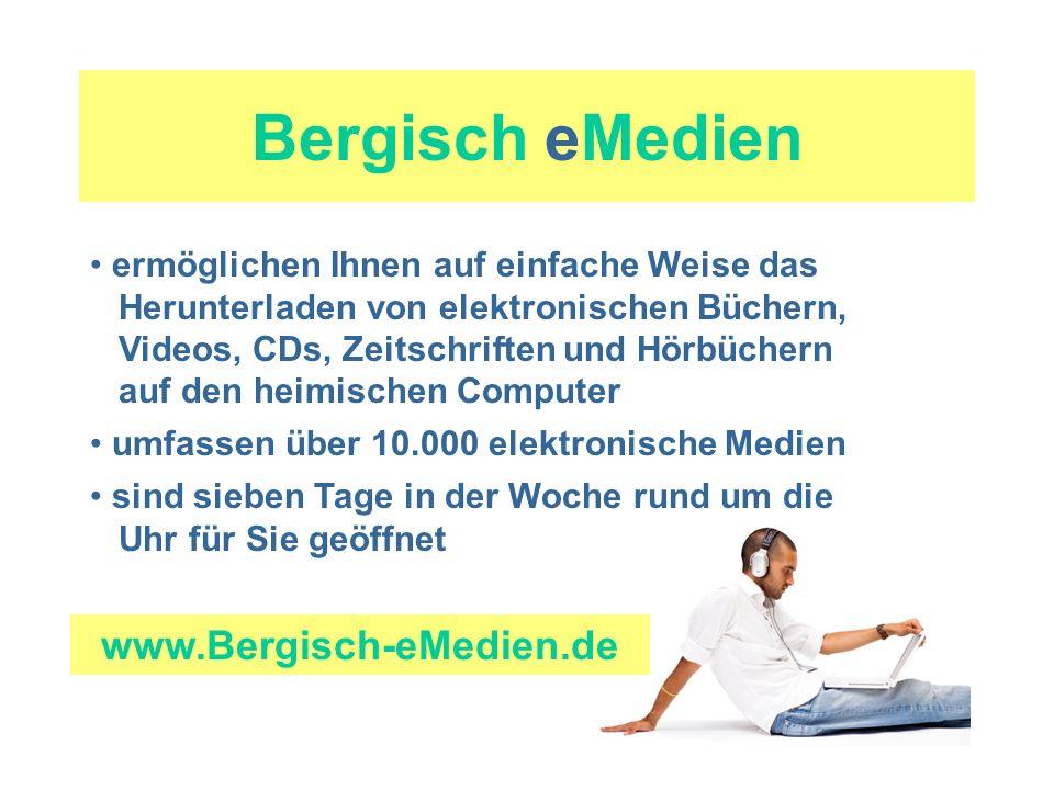 Bergisch eMedien www.Bergisch-eMedien.de