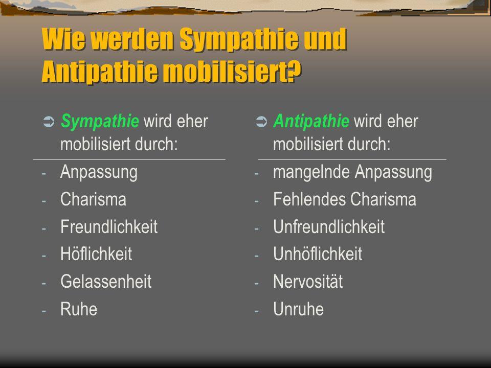 Wie werden Sympathie und Antipathie mobilisiert