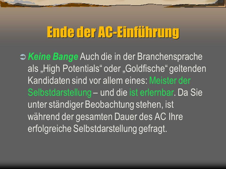 Ende der AC-Einführung