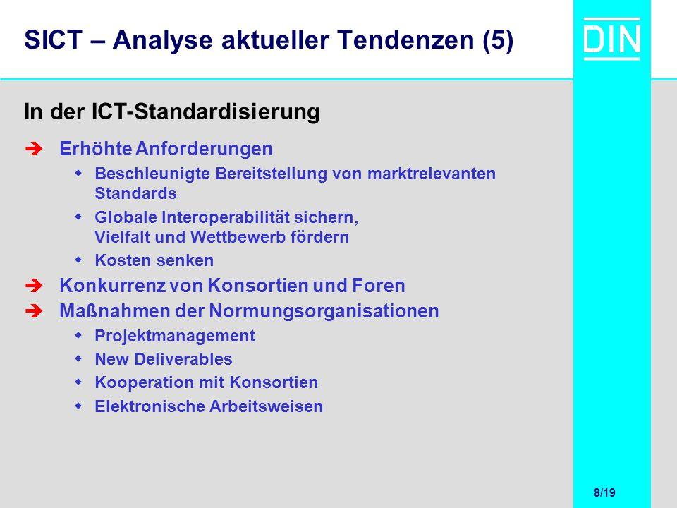 SICT – Analyse aktueller Tendenzen (5)