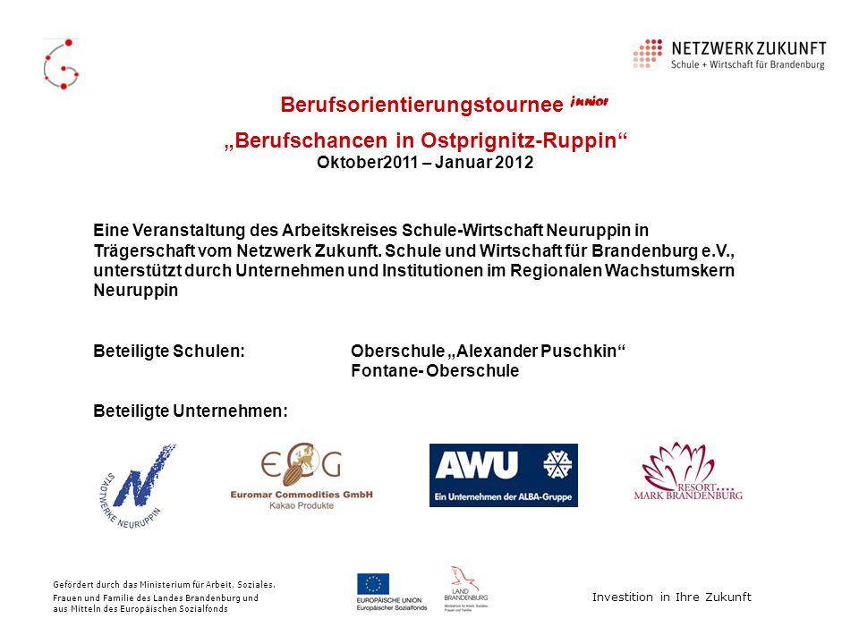 """""""Berufschancen in Ostprignitz-Ruppin"""