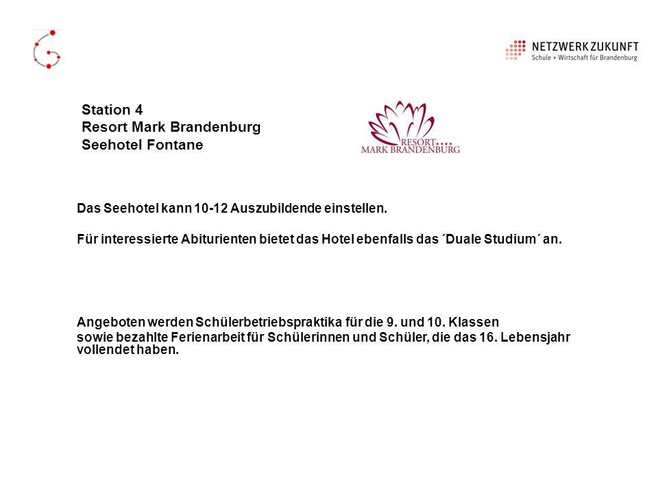 Station 4 Resort Mark Brandenburg Seehotel Fontane