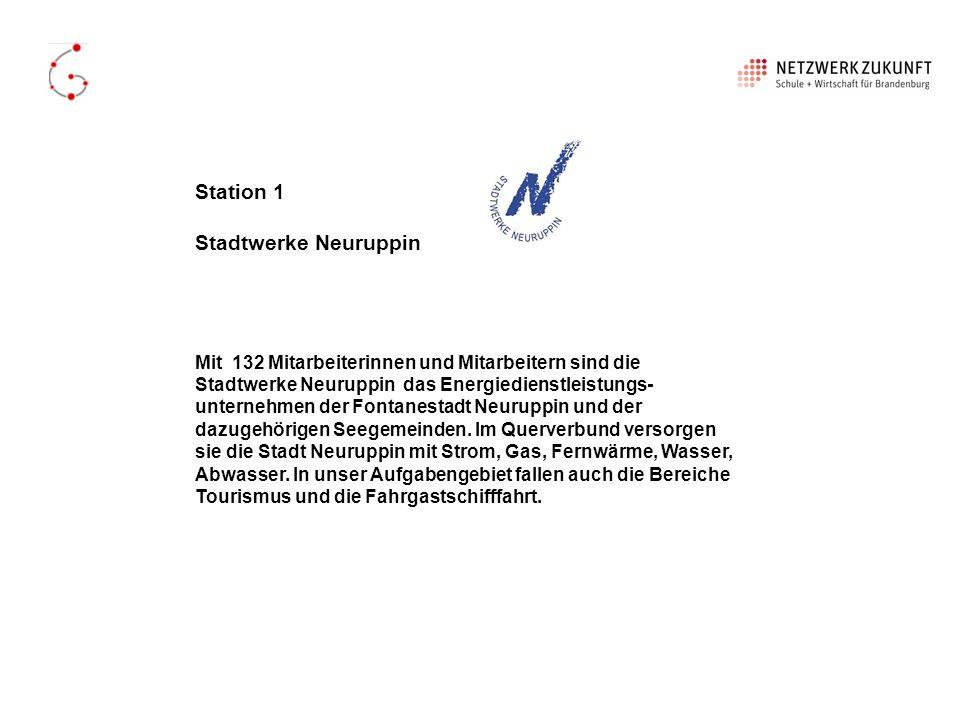 Station 1 Stadtwerke Neuruppin