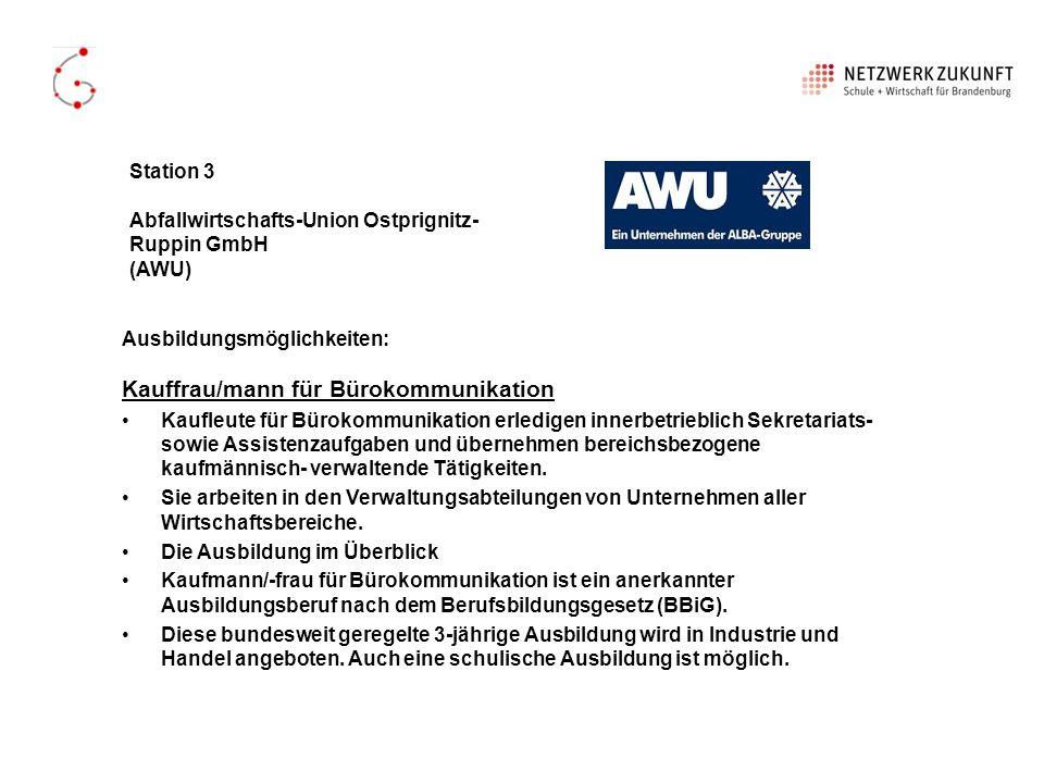 Kauffrau/mann für Bürokommunikation