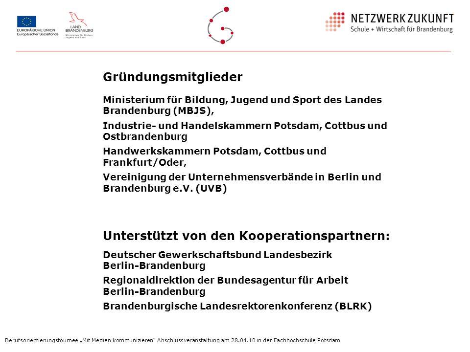 Gründungsmitglieder Ministerium für Bildung, Jugend und Sport des Landes Brandenburg (MBJS),