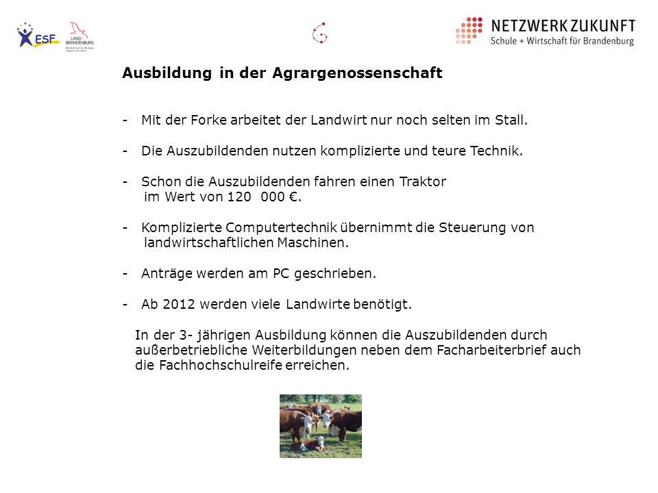 Ausbildung in der Agrargenossenschaft