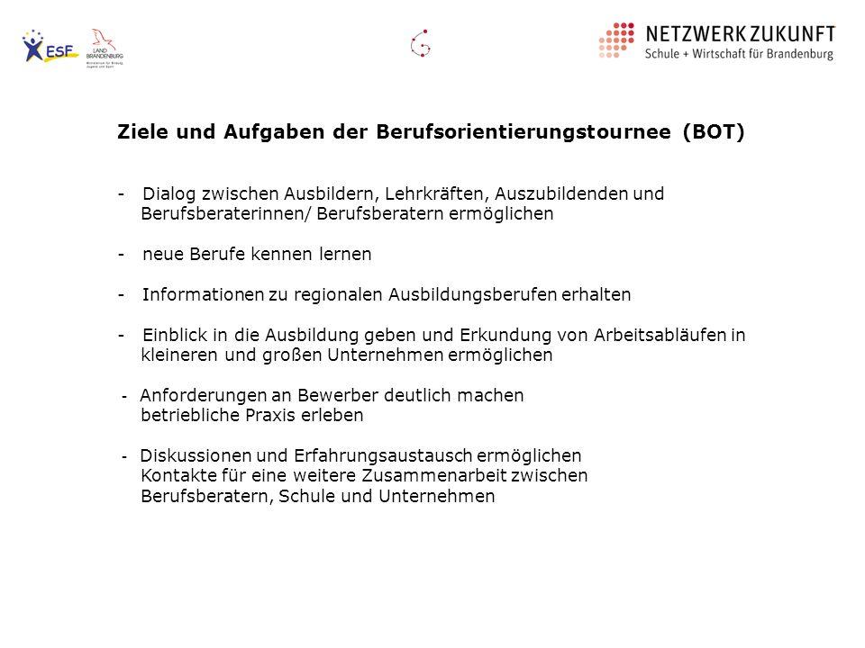 Ziele und Aufgaben der Berufsorientierungstournee (BOT)