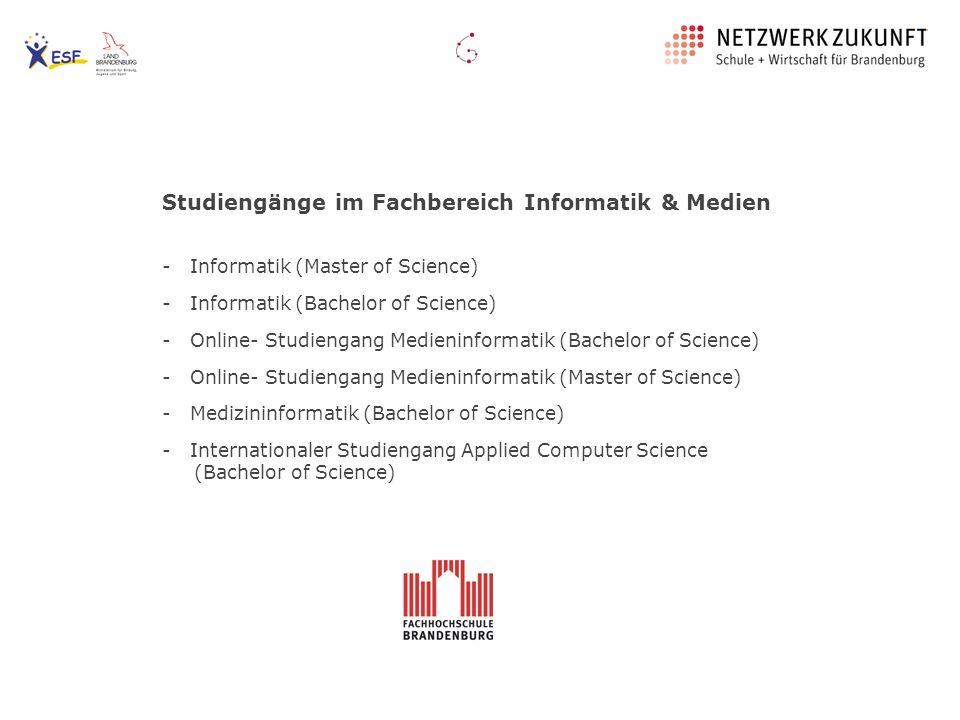 Studiengänge im Fachbereich Informatik & Medien
