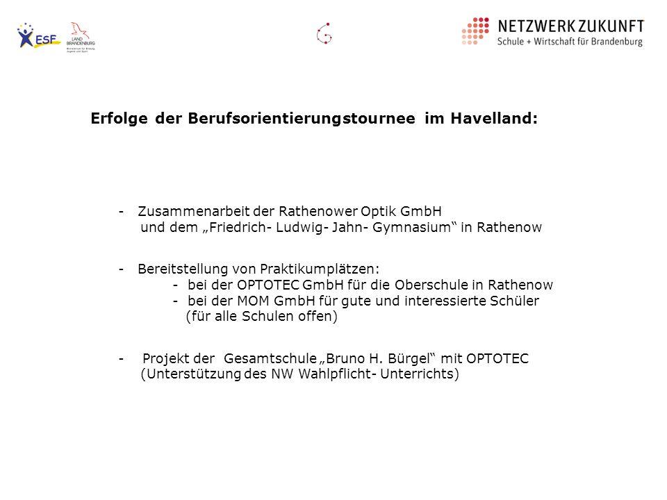 Erfolge der Berufsorientierungstournee im Havelland: