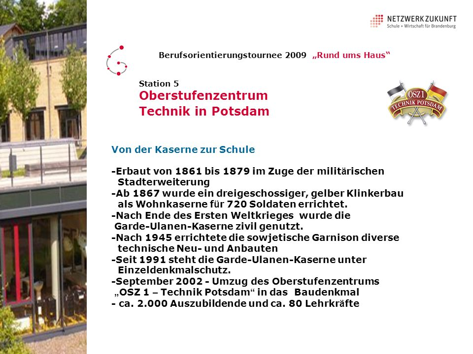 Oberstufenzentrum Technik in Potsdam