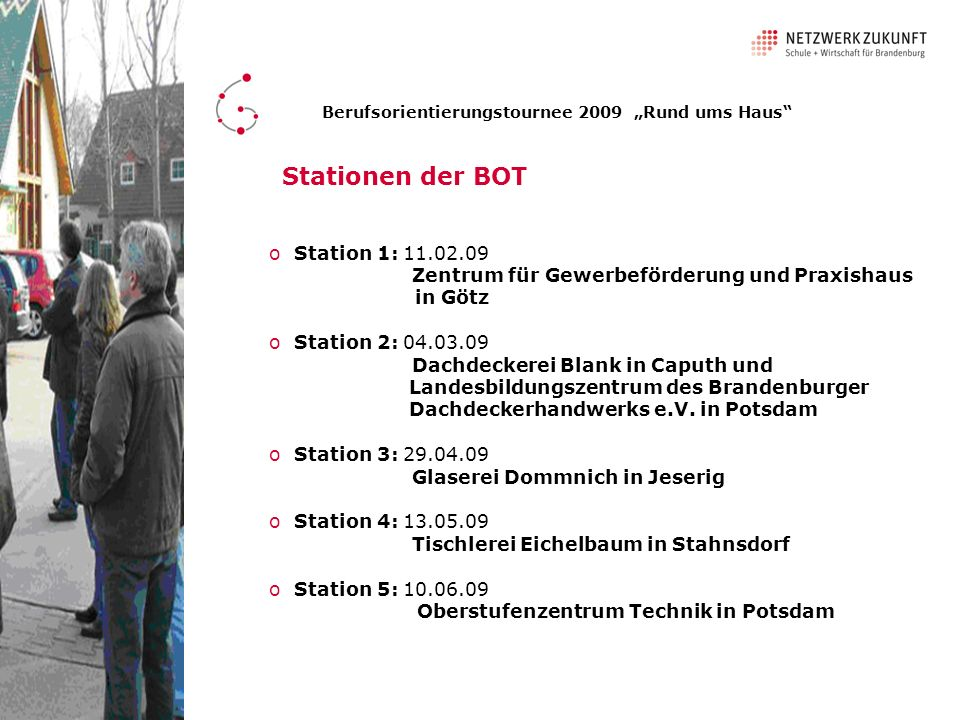 Stationen der BOT Station 1: 11.02.09