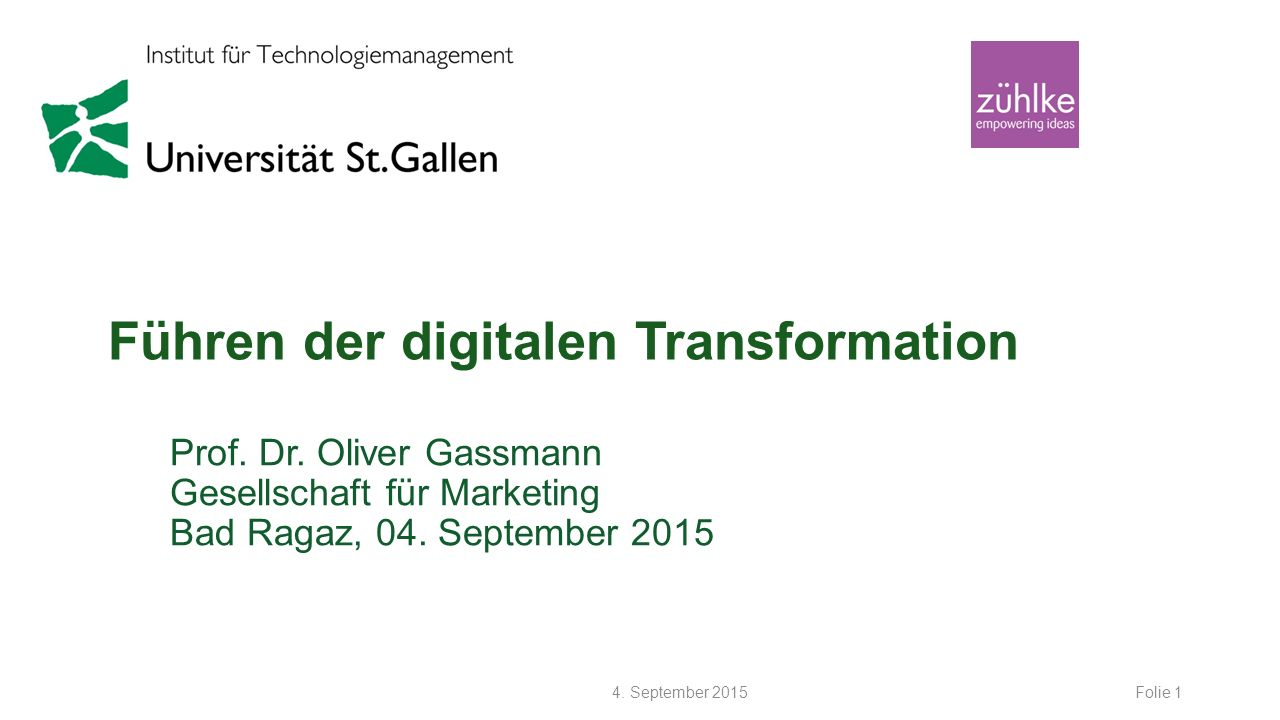 Führen der digitalen Transformation