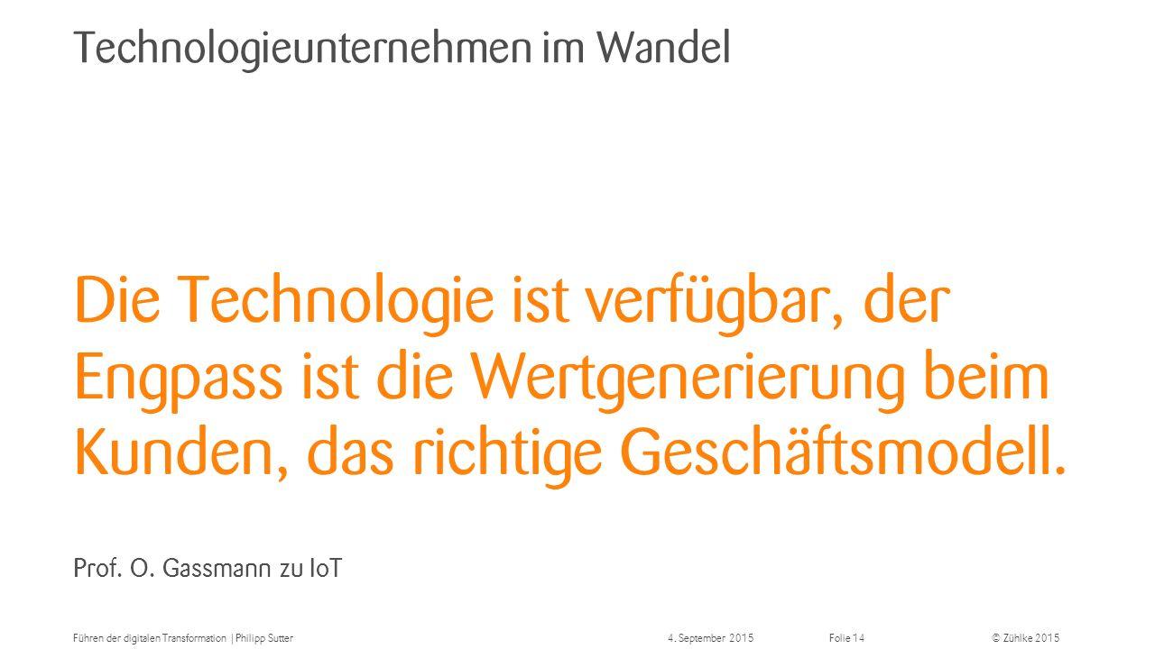 Technologieunternehmen im Wandel