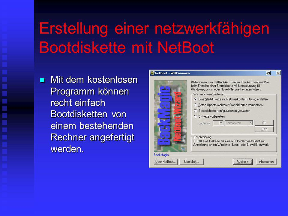 Erstellung einer netzwerkfähigen Bootdiskette mit NetBoot