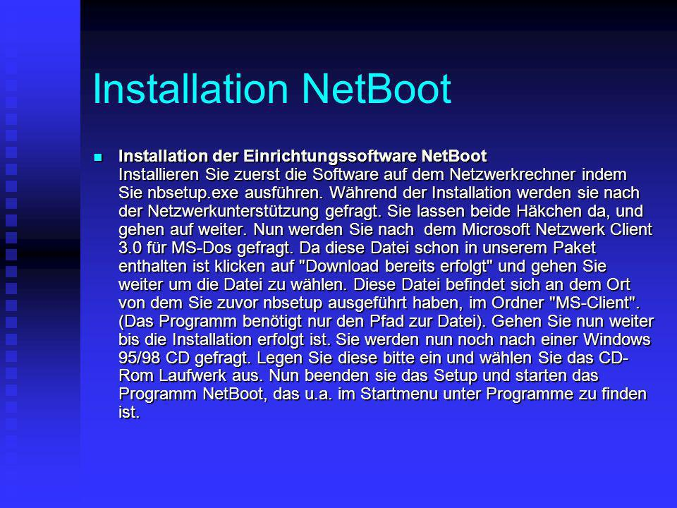 Installation NetBoot