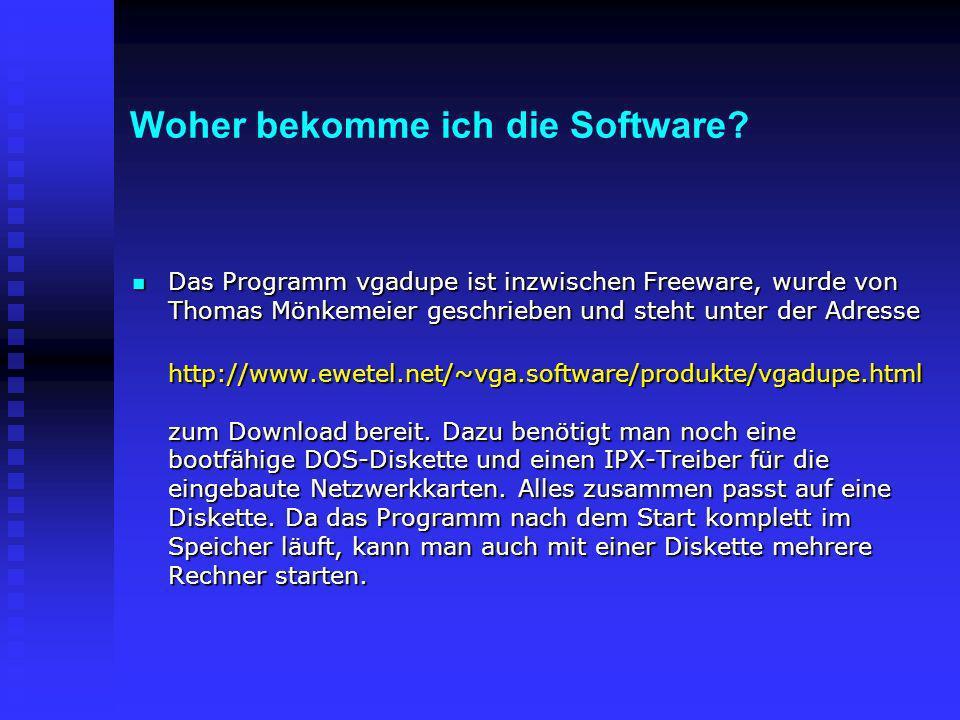 Woher bekomme ich die Software