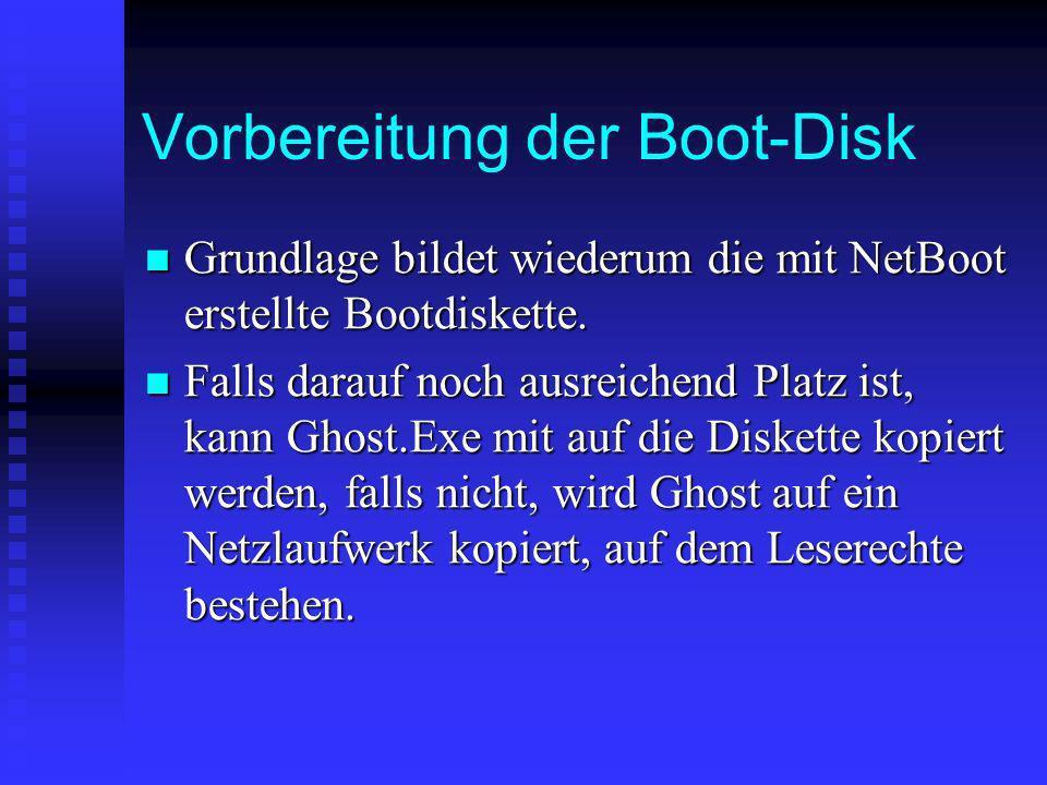 Vorbereitung der Boot-Disk