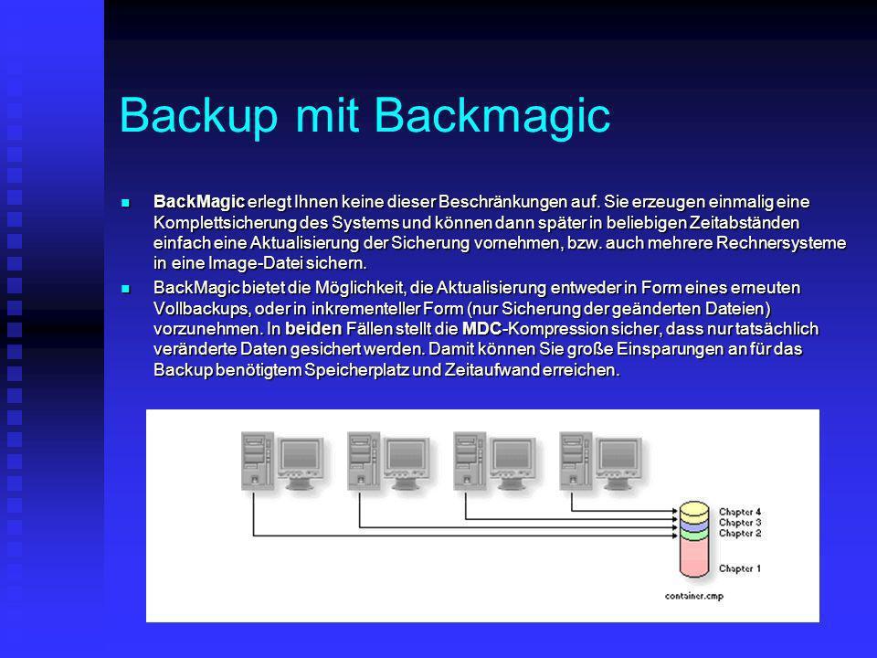 Backup mit Backmagic
