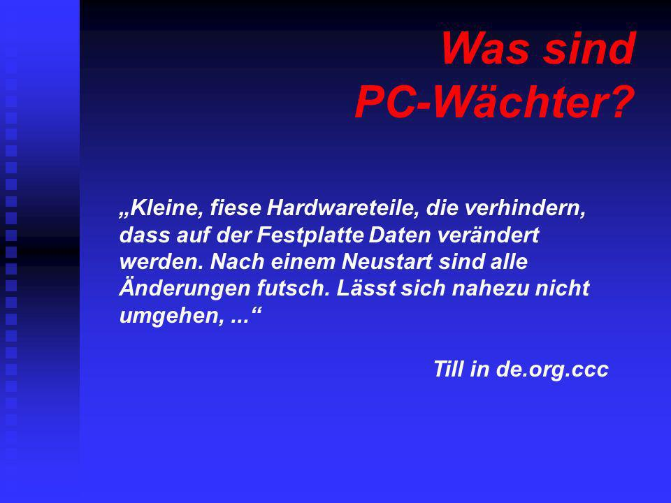 Was sind PC-Wächter