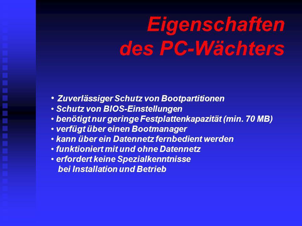 Eigenschaften des PC-Wächters