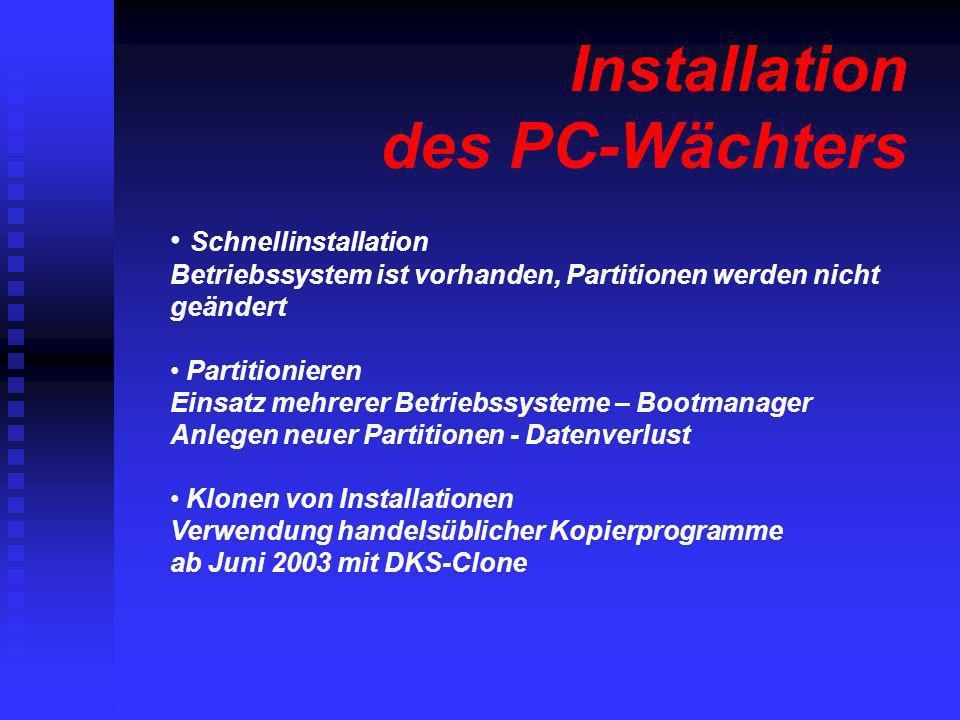 Installation des PC-Wächters