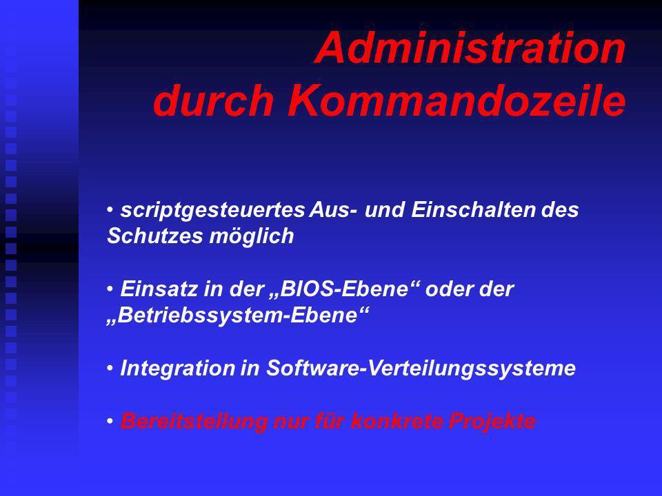 Administration durch Kommandozeile
