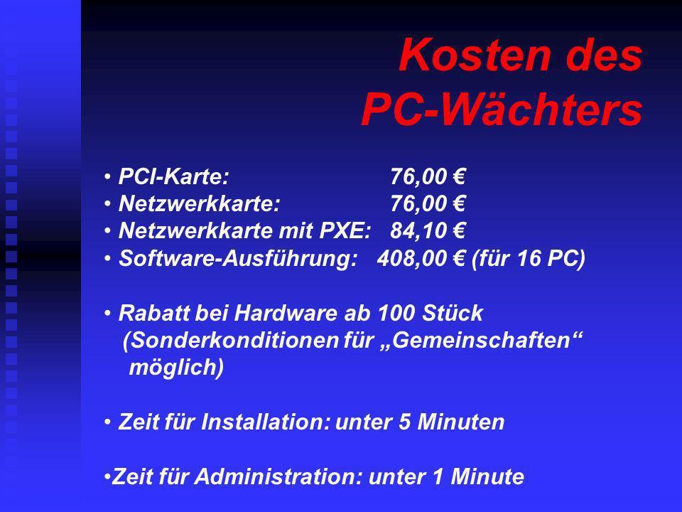 Kosten des PC-Wächters