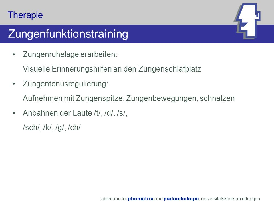 Zungenfunktionstraining