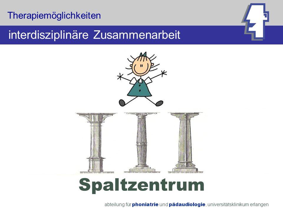 Spaltzentrum interdisziplinäre Zusammenarbeit Therapiemöglichkeiten